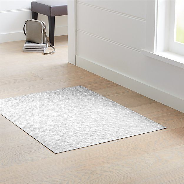 Chilewich Mosaic Grey Woven Floormat 35 X48 Reviews Crate And Barrel Crate And Barrel Chilewich Mosaic