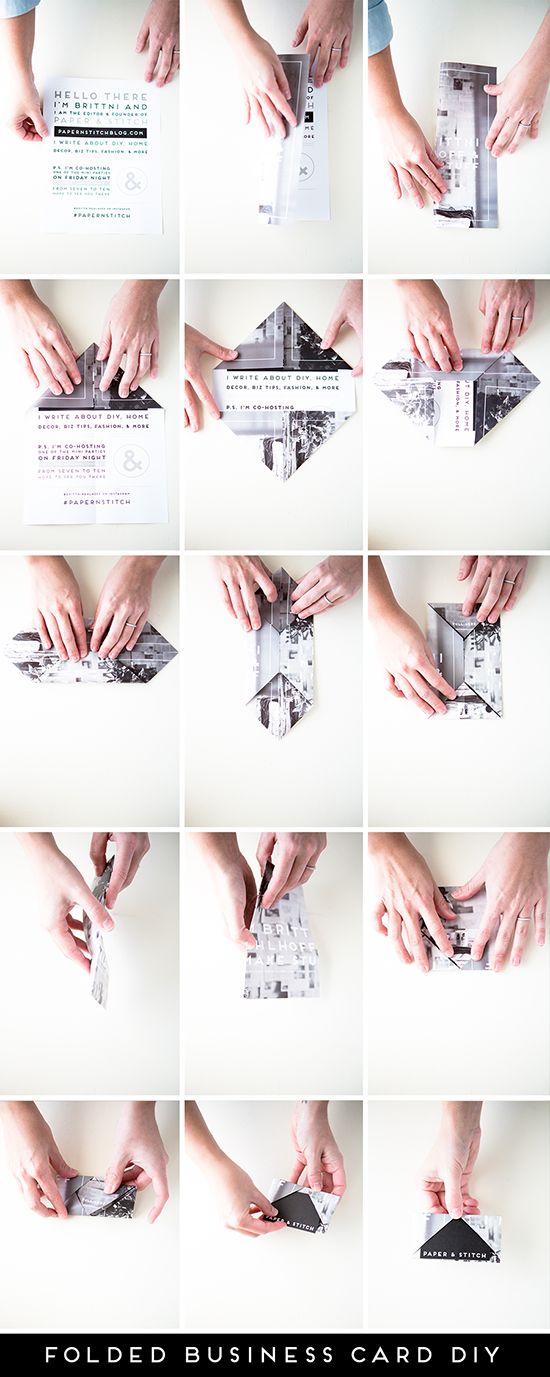 Fold It Up: Unique DIY Business Cards