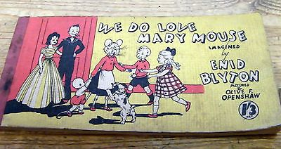 "Vintage Enid Blyton ""We Do Love Mary Mouse"" Strip Cartoon Book"