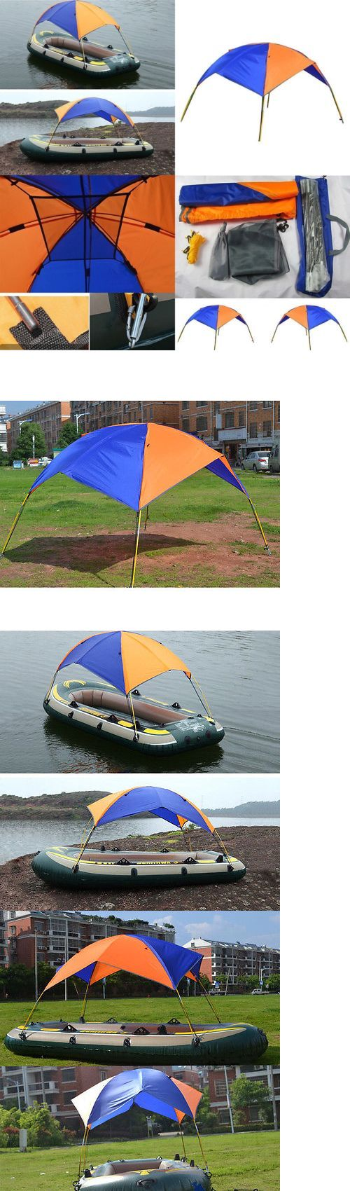 Tent and Canopy Accessories 36120: Portable Bimini Top Cover Sun Shelter Canopy For Inflatable Kayak Canoe Boat -> BUY IT NOW ONLY: $32.09 on eBay!