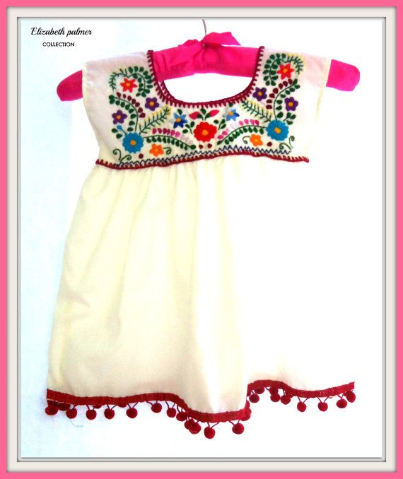 Lolita Handmade Embroidered Mexican Baby Tunic by elizabethpalmer, $30.00