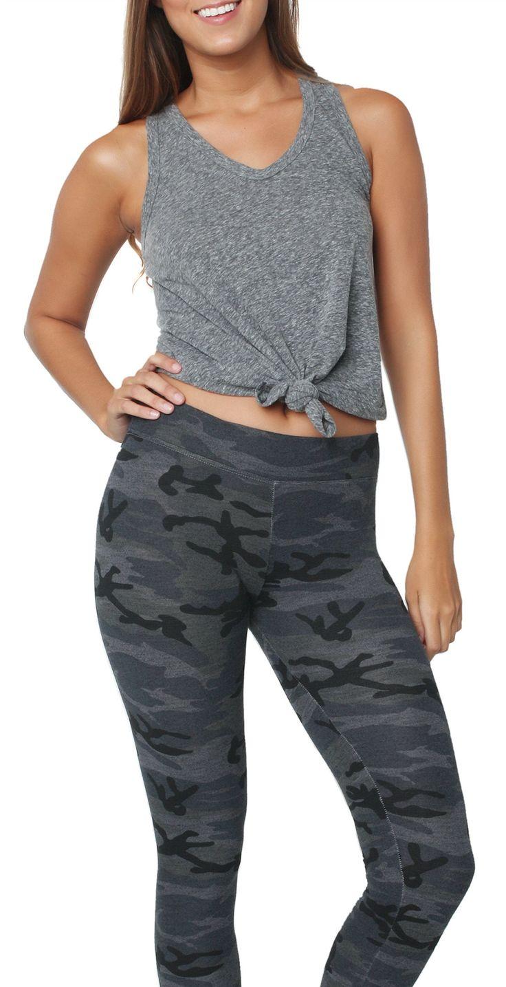 Camo Yoga Pant Soft Black