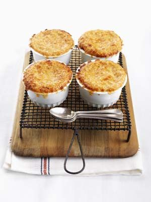 Switch things up and impress your party guests with this savoury version of Crème Brûlée, made with Ontario potatoes, fresh parmesan and a hint of horseradish.