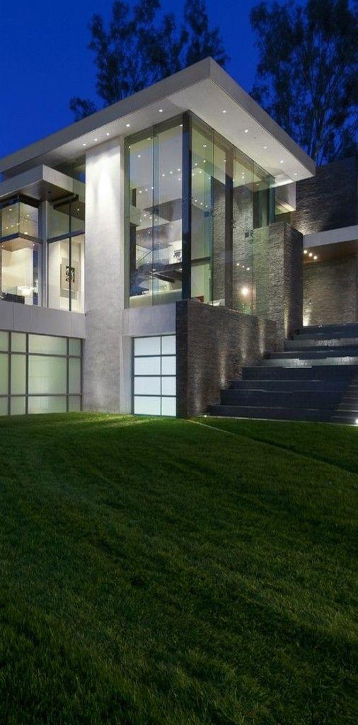 Modern house glass window