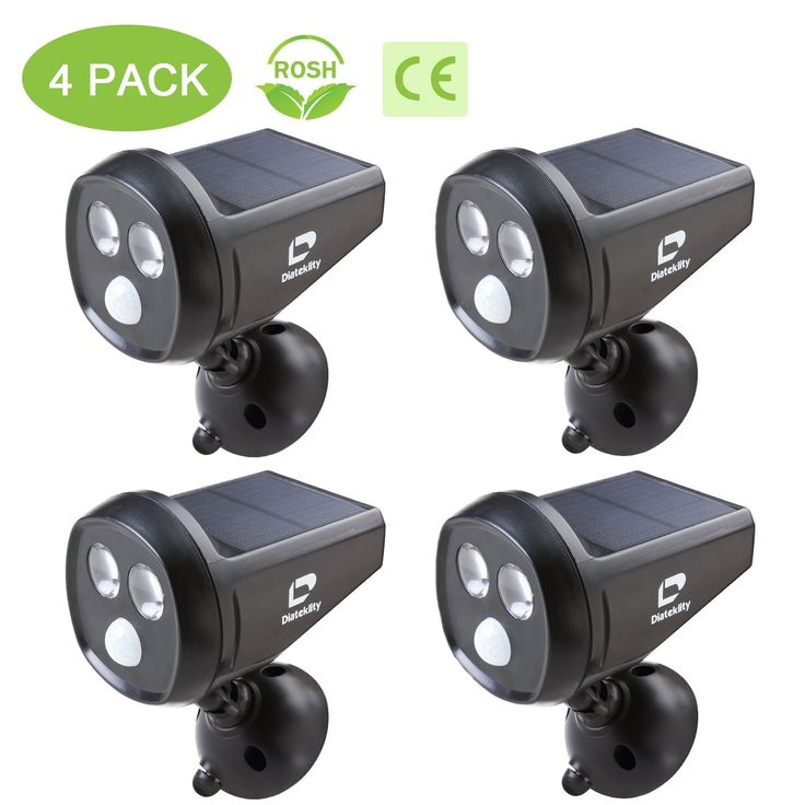 LED Motion Sensor Light - Wireless Spotlight Solar Motion Light - Solar Powered Outdoor Light - Weatherproof (4PCS)