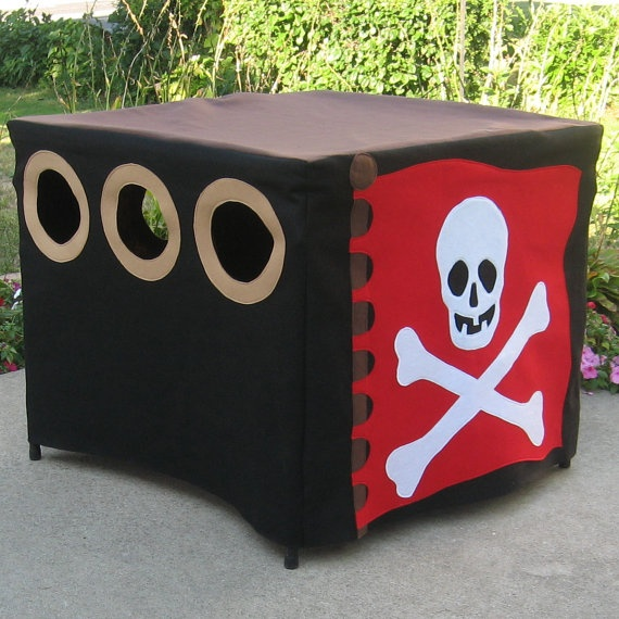 Immediate Shipping Pirate's Hideout Card Table by missprettypretty, $145.00