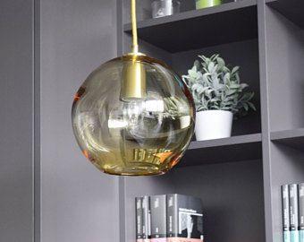 Mano soplada de cristal lámpara de globo de cristal iluminación / moderno / mediados de siglo de cristal lámpara colgante iluminación colgante del vidrio del arte