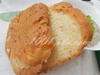 Хлеб с семенами льна на минеральной газированной воде