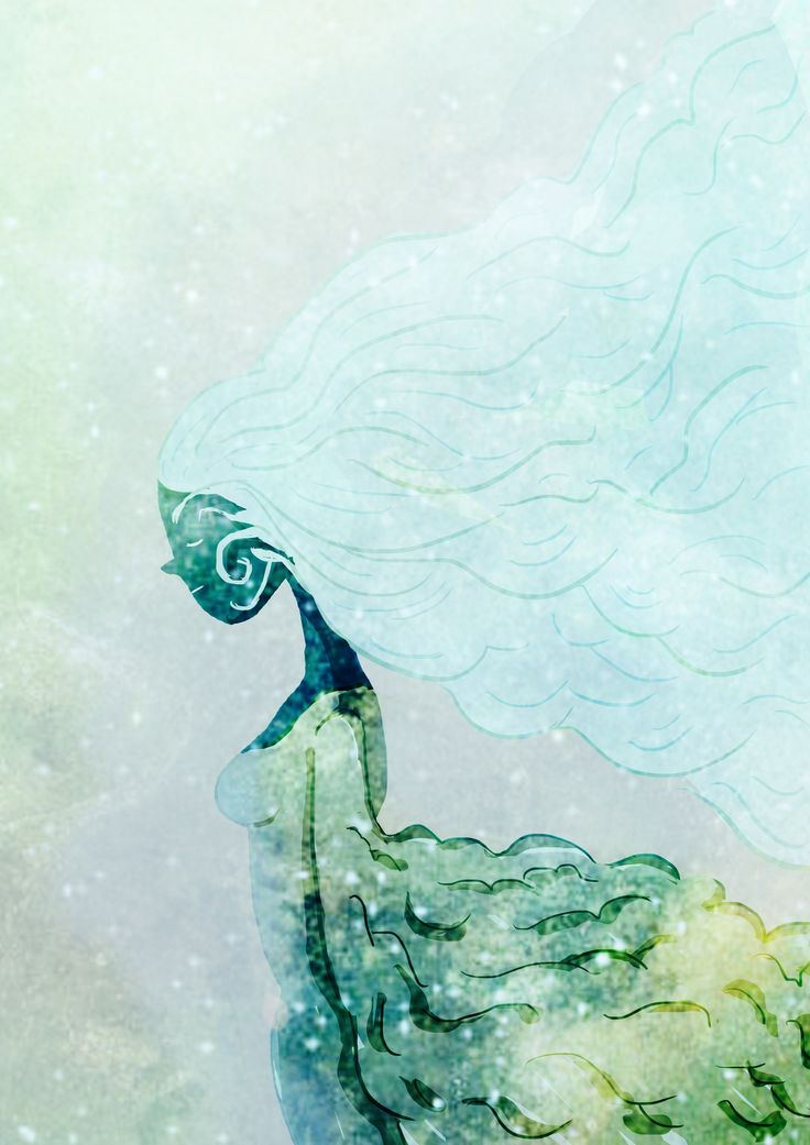 #photoshop #wind #snowqueen #seicappelli #illustration https://seicappelli.wordpress.com