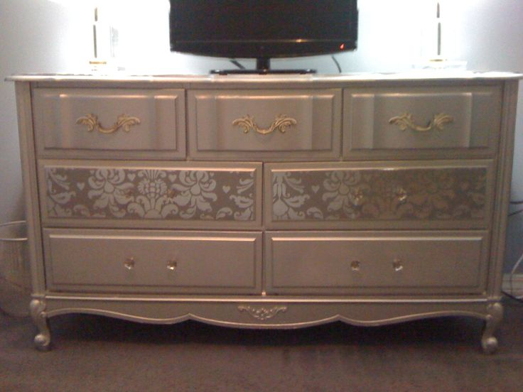 Silver Refurbished Dresser