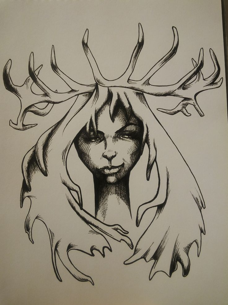 #inktober stag lady