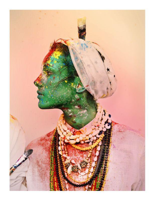 painter holi festival colours portrait
