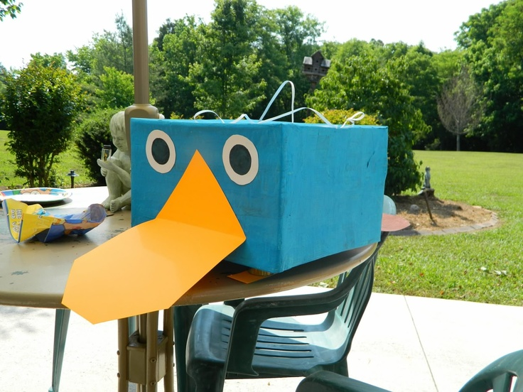 The Perry the Platypus pinata!  Welcome to the Jungle