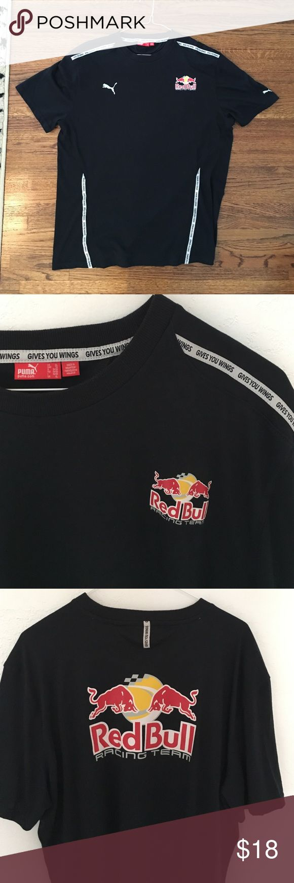 MENS PUMA Official Red Bull Racing Team shirt XL RED BULL RACING TEAM official soft cotton shirt by PUMA! Collectors item! For the racing fan! Front is photos 1,2 and 4. 3rd photo shoes back logo! RED BULL GIVES YOU WINGS! Puma Shirts Tees - Short Sleeve