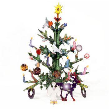 Kerstboom van gerecycled karton