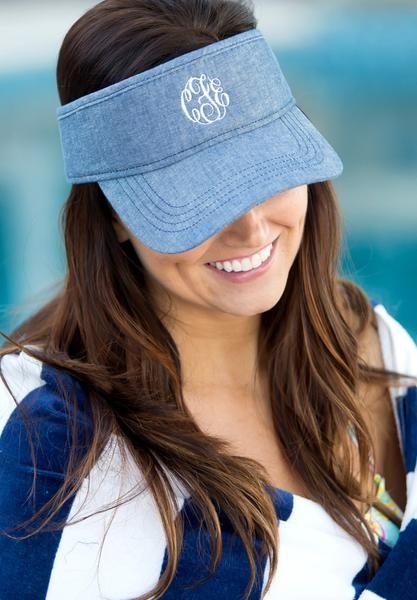 Personalized Womens VISOR HAT Baseball Cap Beach Pool Sports