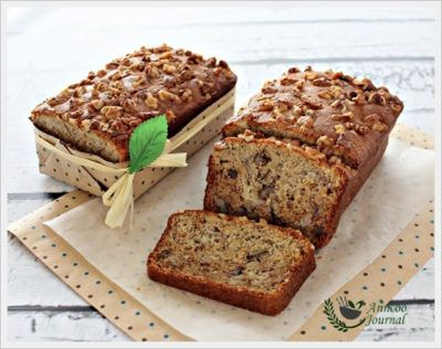 Banana Walnut Bread 香蕉核桃面包