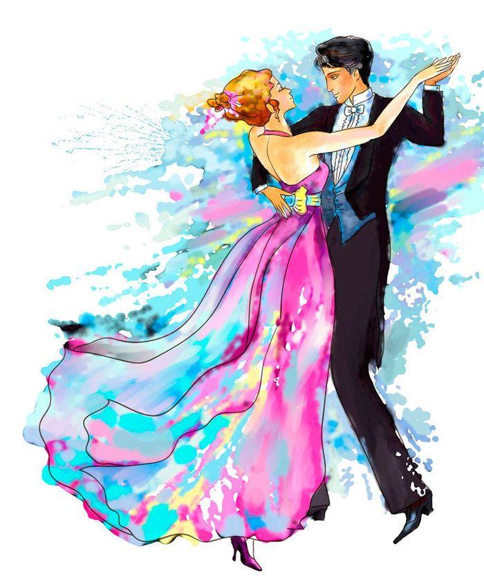 Танцы картинки нарисованные