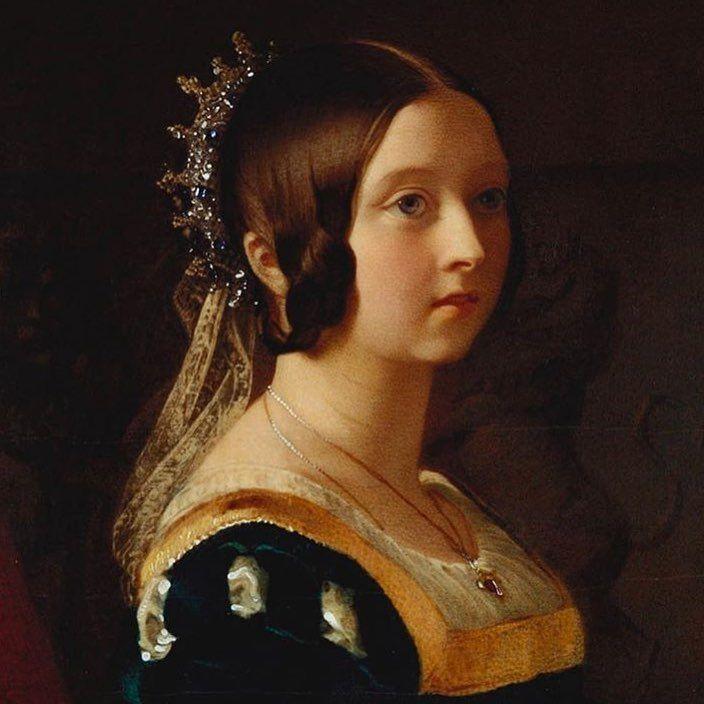 Beautiful Portrait Of A Young Queen Victoria Queenvictoria