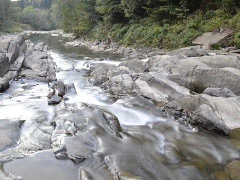 """Rezerwat przyrody """"SINE WIRY"""" Rezerwat """"Sine Wiry"""" jest położony na terenie Ciśniańsko-Wetlińskiego Parku Krajobrazowego, w Międzynarodowym Rwzerwacie Biosfery Karpaty Wschodnie. Rezerwat o pow. 450,49 ha - krajobrazowy, utworzony ze względów naukowych, dydaktycznych oraz krajobrazowych i chroni przełomowy odcinek rzeki Wetliny (Wetlinki). Położony na terenie dwóch nadleśnictw: Cisna i Baligród."""