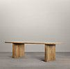 Reclaimed Russian Oak Plank Rectangular Dining Table