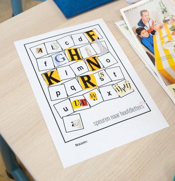 In groep 3 maken de kinderen kennis met de hoofdletters. Ik laat ze spelenderwijs oefenen met de hoofdletters en binnen korte tijd zijn ze bekend.