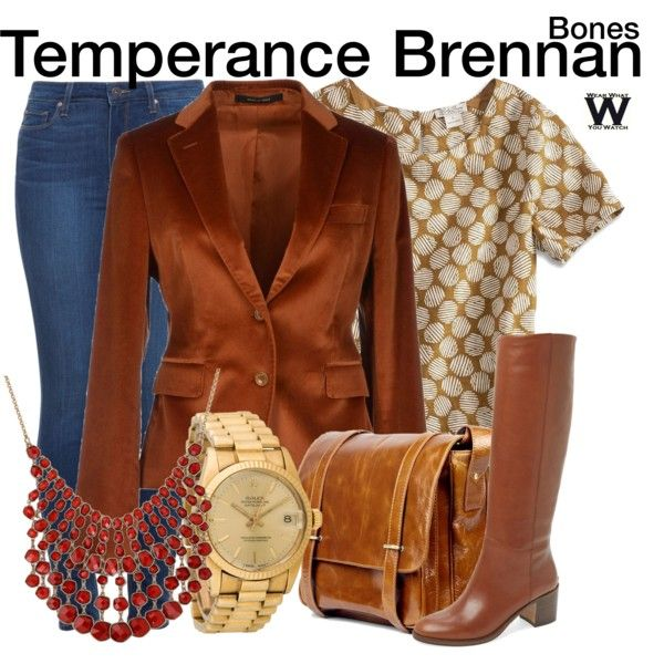 Inspired by Emily Deschanel as Temperance Brennan on Bones
