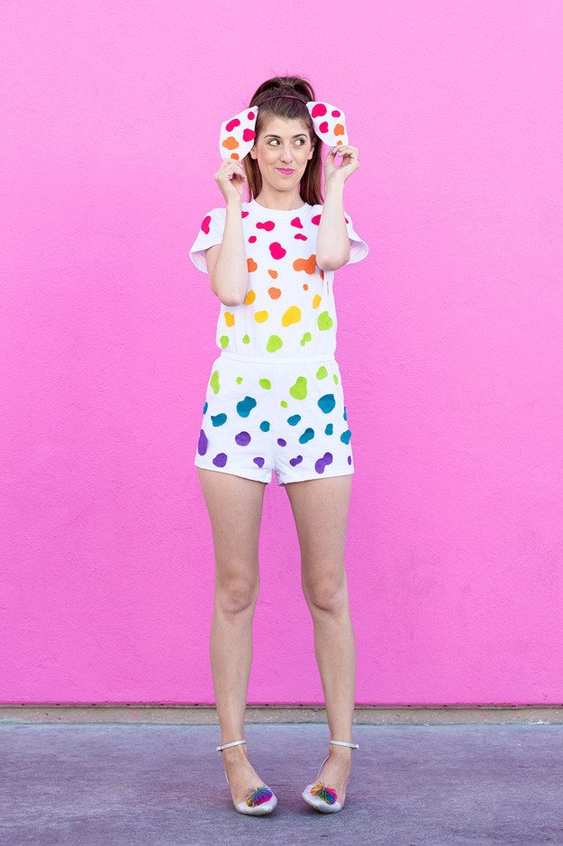 Lisa Frank Spotty Dotty Dalmation | 32 Crazy Cool DIY Teen Halloween Costumes