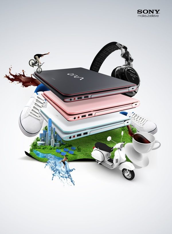 Sony Vaio (summer concept) by Agencja Kreatywna Pompidou , via Behance