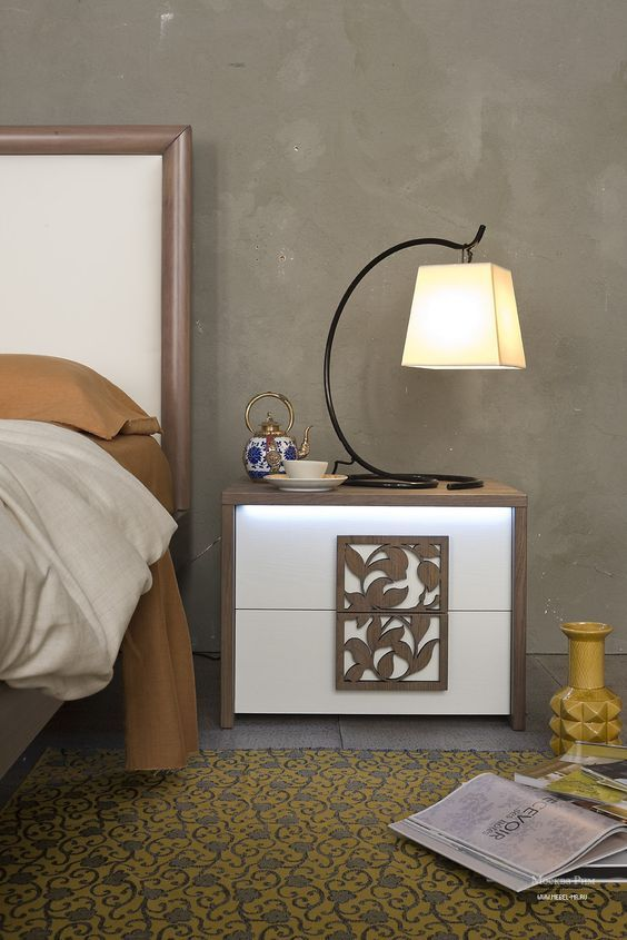 10 Exclusive Bedside Tables For Your Master Bedroom Decor Side Tables Bedroom Apartment Bedroom Design Contemporary Side Tables