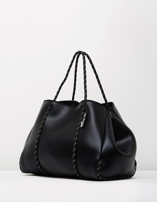 Core Trainer - Miz Casa And Co Shiny Black Sammy Tote Bag