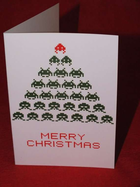30 best creative christmas cards images on pinterest creative joyous 8 bit greetings creative christmas m4hsunfo Gallery