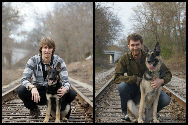 These friends, who've both got a bit more suave over the years. | 26 Pictures That Prove Pets Make The Best Friends