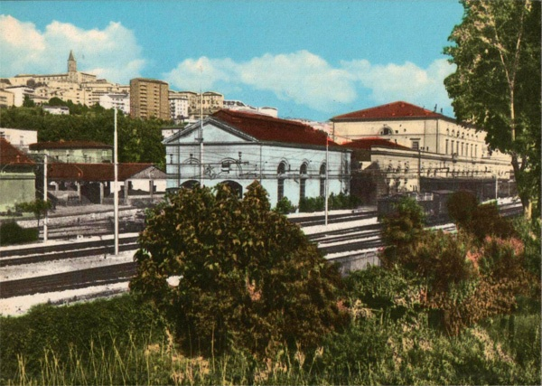 Perugia, Italy - 60s Postcard (view from Fontivegge rail station)