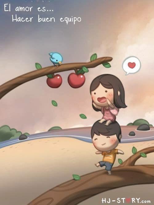 El amor es...Hacer buen equipo