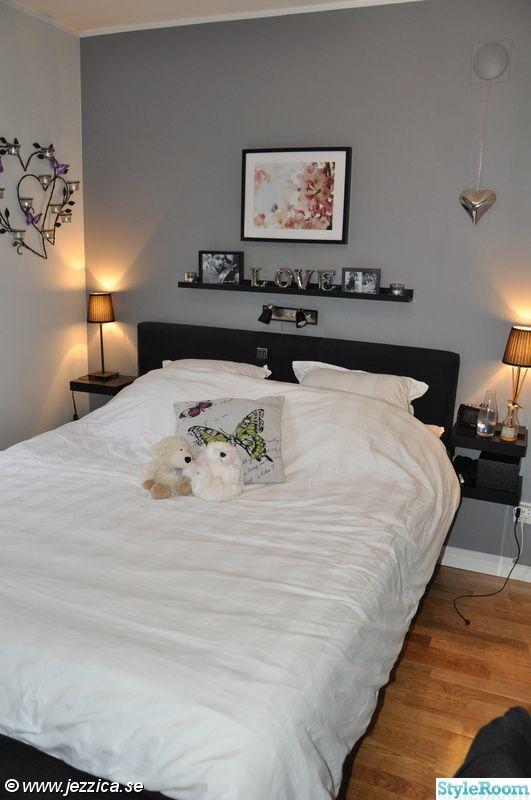 tavellist,sovrum,fondvägg,grå fondvägg,tavla