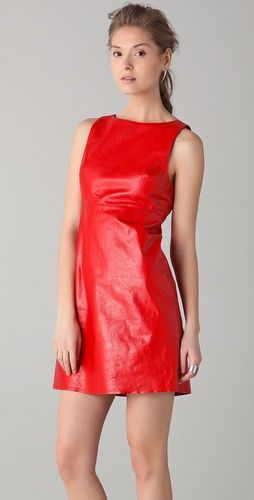 Best 25  Red leather dress ideas on Pinterest | Black leather ...