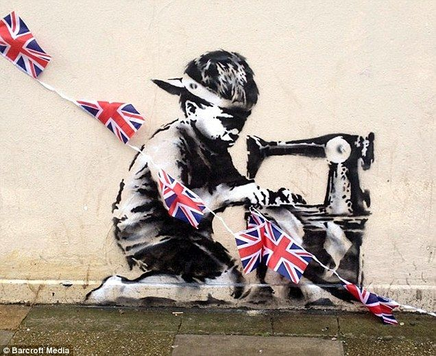 Banksy Jubilee Picture appears