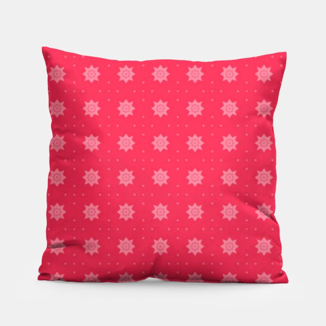 Red Flowers  Pillow