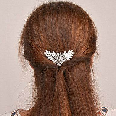 Women+Crystal+Acrylic+Alloy+Luxurious+and+Beautiful+Hair+Accessory+Fashion+Metal+Butterfly+Hairpin++1+Piece+–+GBP+£+2.63