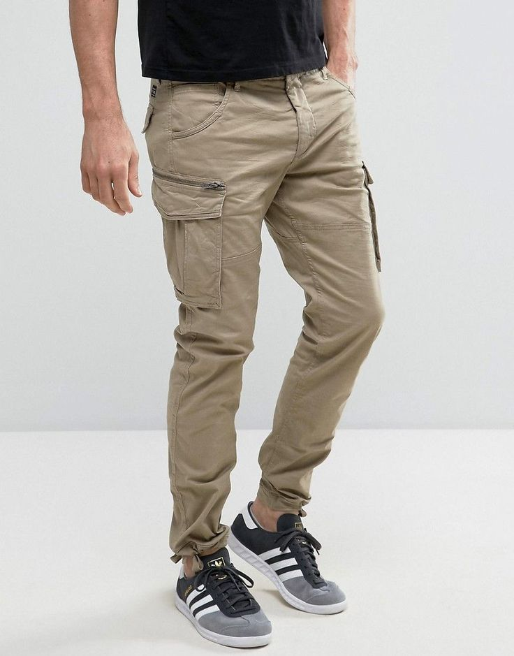 Jack & Jones Intelligence Slim Fit Cargo Pant - Stone