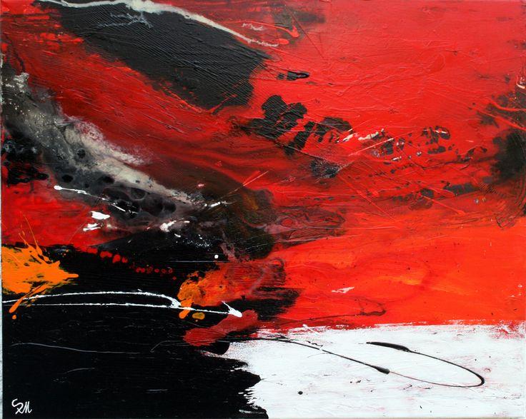 """ABSTRAKT """"LUST AUF ROT"""" - Ein wahrer Künstler malt nicht, was er sieht,  sondern was er fühlt. (Zrzavy Jan) - 80x100cm"""