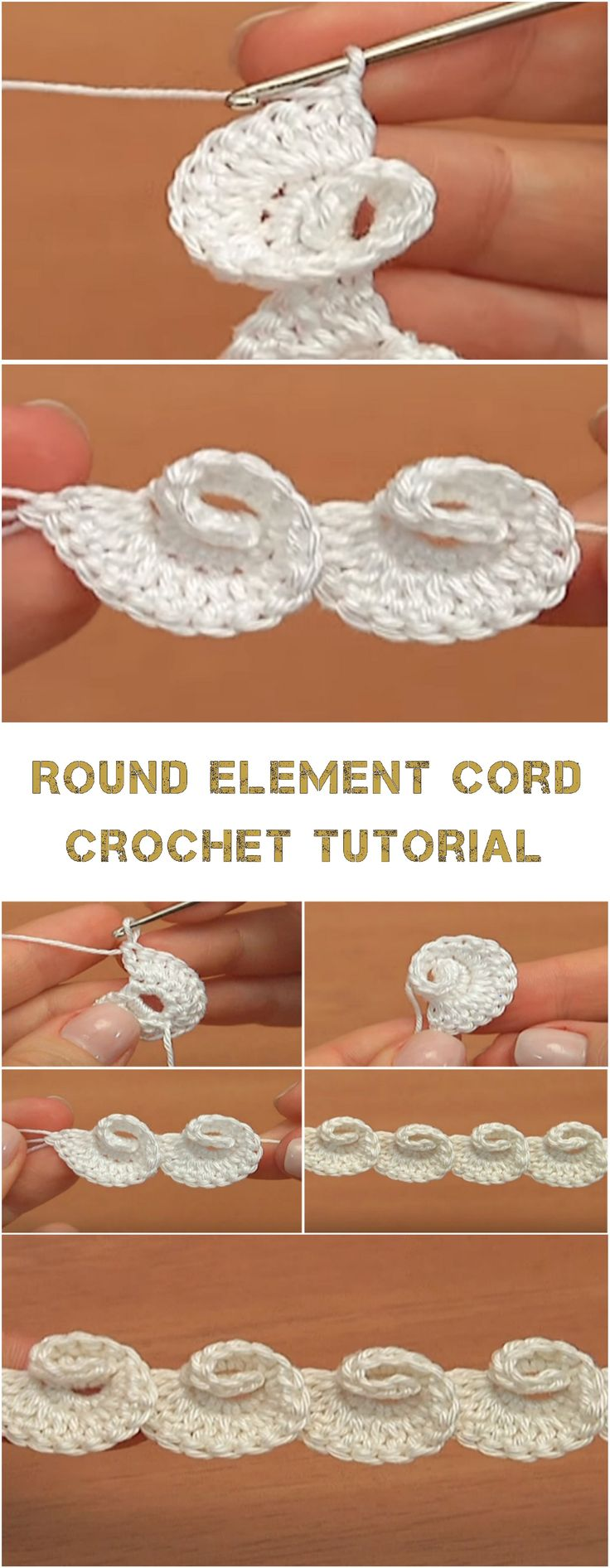 Round Element Cord Crochet Tutorial