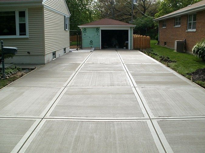 broom finish driveway concrete driveways kmm decorative concrete northbridge ma - Concrete Driveway Design Ideas