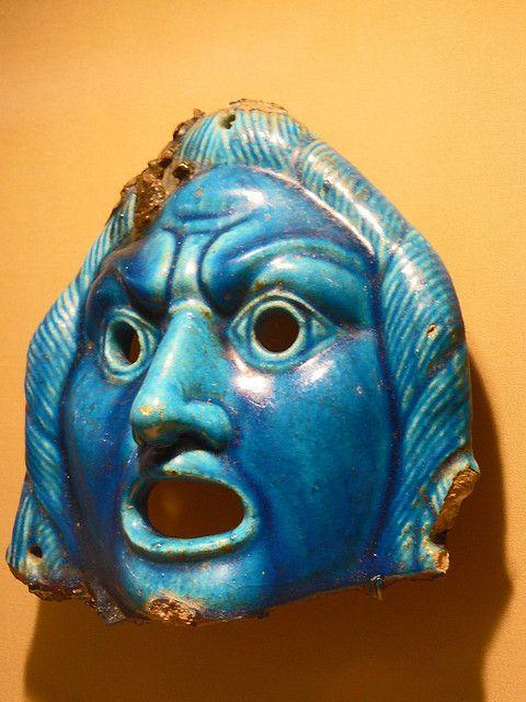 Faience Theater Masks Egypt 2nd century CE (1)
