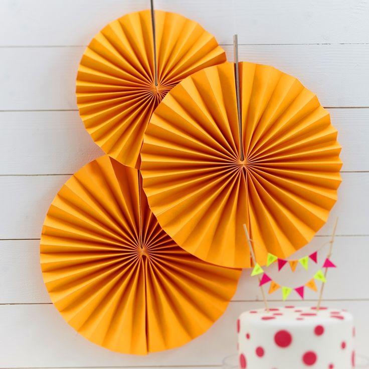 Rozety wiszące NEON pomarańczowe (3szt.)