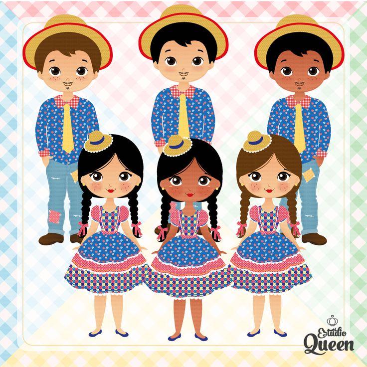 ClipArt Festa Junina, Junine Party, ClipArt Party, Cute Design, São João, Festa Caipira, fofinho, cute, illustration cute design