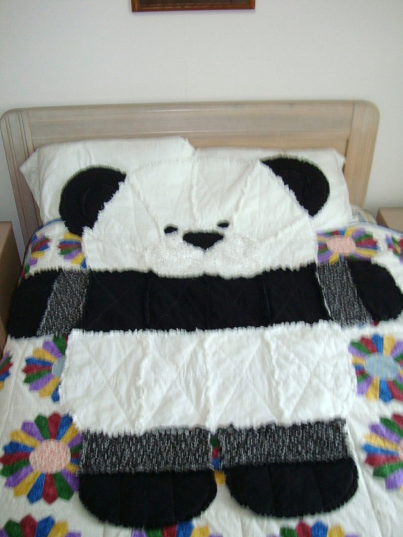Panda Bear Rag Quilt By Quiltsbykym On Etsy 45 00 I