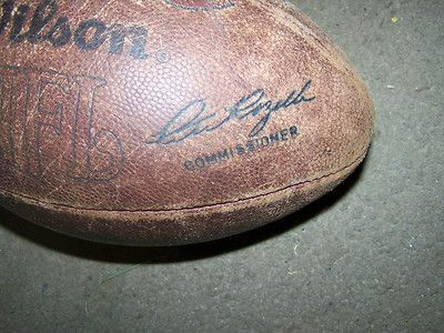 Vintage Wilson NFL Pete Rozelle Pro Game Ball OFFICIAL LEATHER FOOTBALL  THIS IS A VINTAGE OFFICIAL AUTHENTIC FULL SIZE & WEIGHT PRO NFL FOOTBALL    Top of the line leather game ball designed specifically for the highest level of competitve play.   Leather Date code on the Wilson Pete Rozelle ball  this football hold air and the valve work.