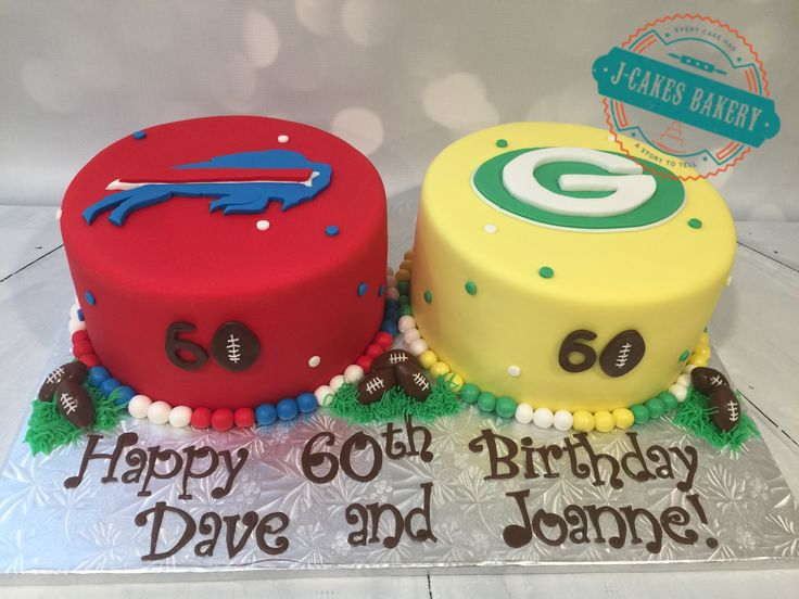 Bills and Packers Cakes!